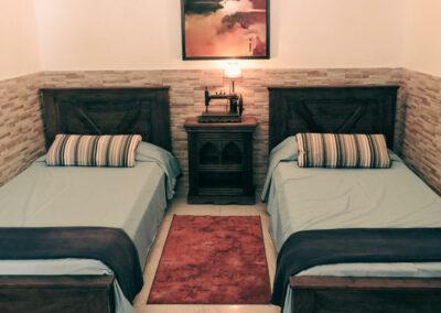 Schlafzimmer in der Villa Perenquén